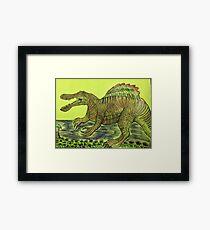 SPINOSAURUS ARTWORK Framed Print