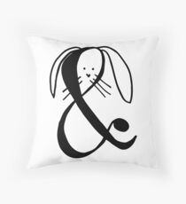 A Rabbit Addition | Cartoon art Throw Pillow
