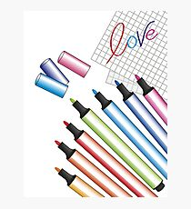 Write love to color Photographic Print