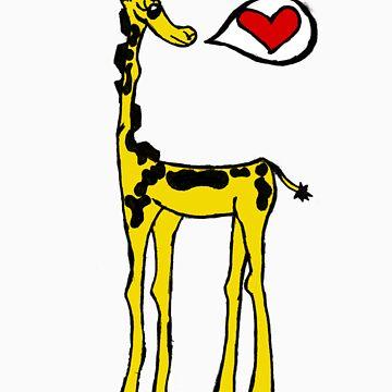 Yellow Giraffe by AmandaEBRA