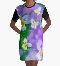 Viola Tricolor Graphic T-Shirt Dress