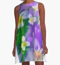 Viola Tricolor A-Line Dress