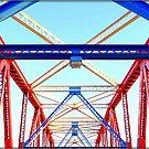 Bright iron bridge by mikeosbornphoto