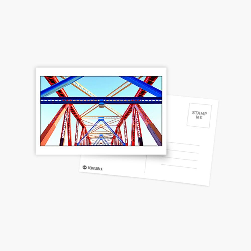 Bright iron bridge Postcard