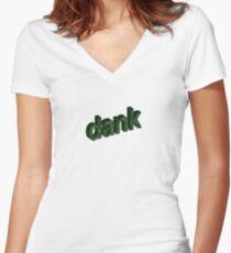 dank Women's Fitted V-Neck T-Shirt