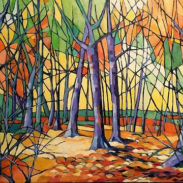 'Autumn Tiergarten, Berlin' oil on canvas. by emgolding