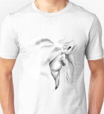 White Horse Head Unisex T-Shirt
