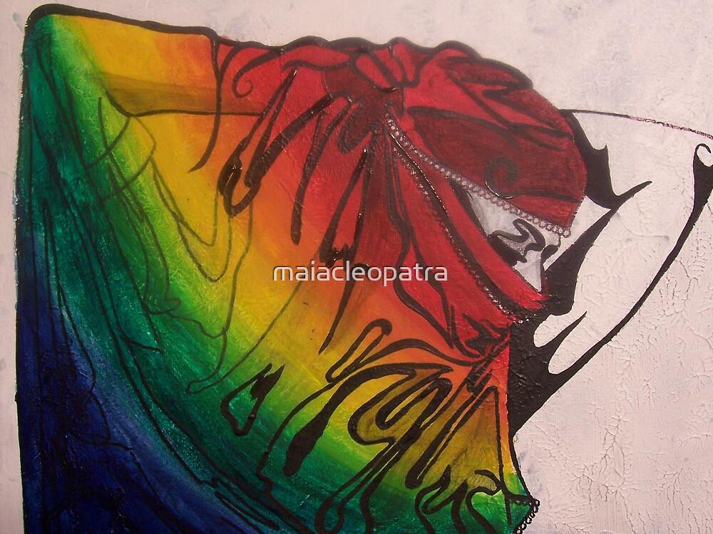 Rainbow Bellydancer by maiacleopatra
