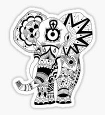 Intricate Mandala Elephant Sticker
