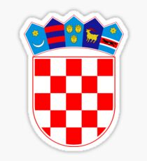 Croatia coat of arms Sticker