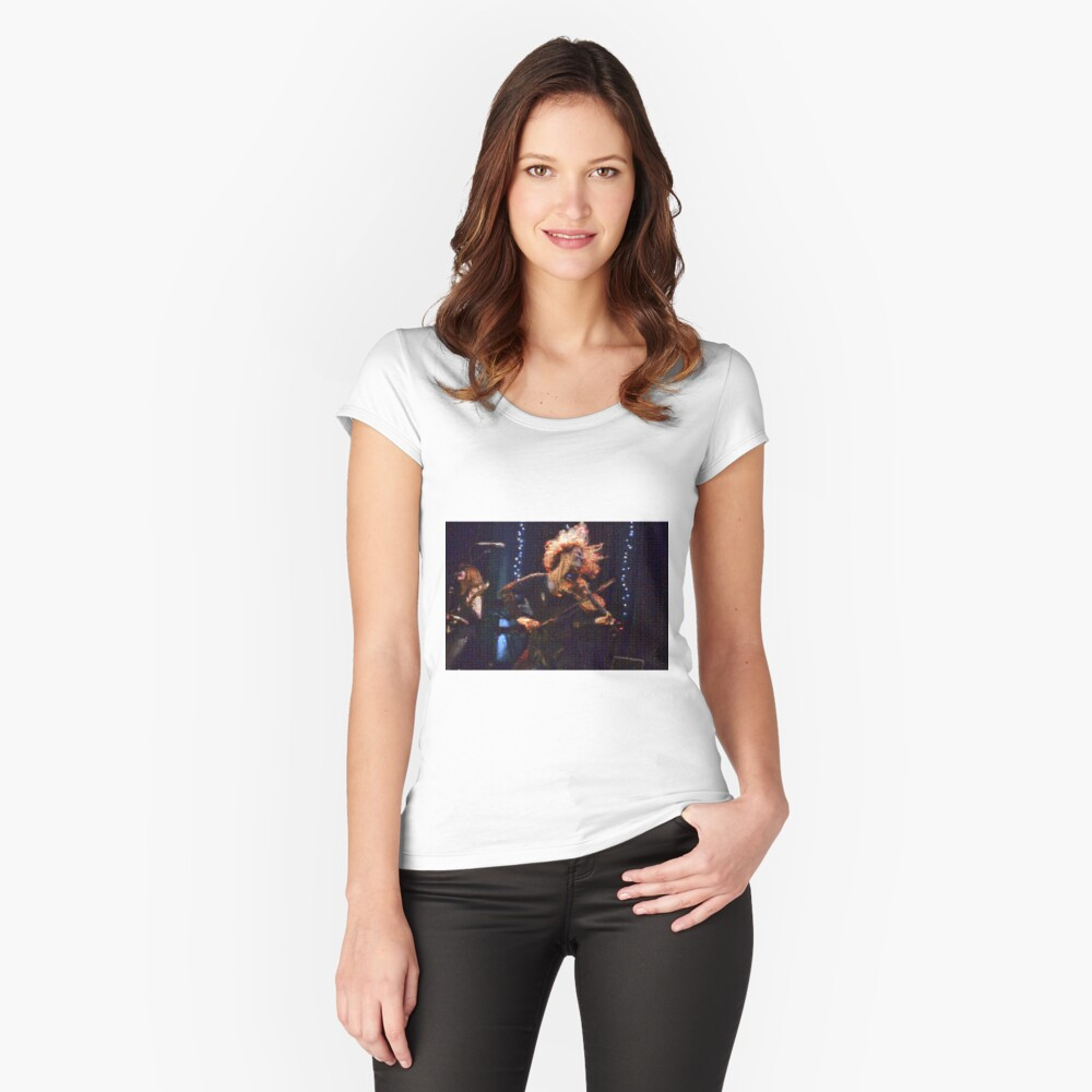 2014 in Review - 3 Women's Fitted Scoop T-Shirt Front