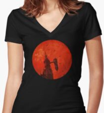 "Netflix® Castlevania - ""Moon and Tower"" T-Shirt & Memorabilia Women's Fitted V-Neck T-Shirt"
