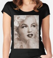 Marilyn Danella Ice Sepia Women's Fitted Scoop T-Shirt