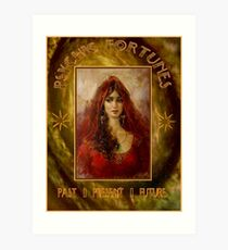 PSYCHIC FORTUNES: Vintage Fortune Telling Print Art Print