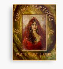 PSYCHIC FORTUNES: Vintage Fortune Telling Print Metal Print