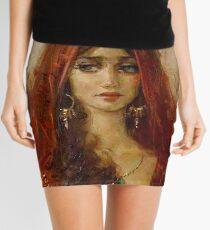 PSYCHIC FORTUNES: Vintage Fortune Telling Print Mini Skirt