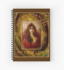 PSYCHIC FORTUNES: Vintage Fortune Telling Print Spiral Notebook