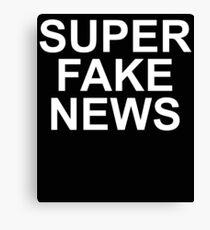 Super Fake News Canvas Print