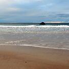 Sand and Sea meet at Sango Bay by Maria Gaellman