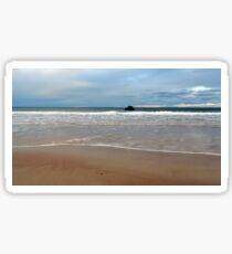 Sand and Sea meet at Sango Bay Sticker