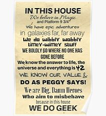In This House...We Do Geek Poster
