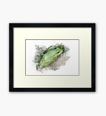 Frog Watercolor Framed Print