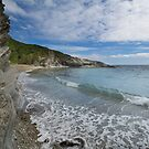 Lansallos beach Cornwall  by eddiej