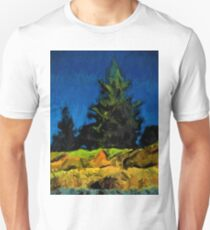 Green Pine Tree in the Blue Wind T-Shirt