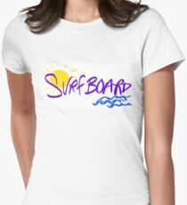 Surfboard Women's Fitted T-Shirt