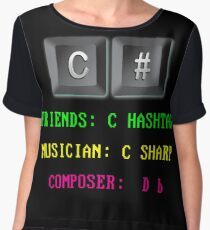 C# Programming Language Women's Chiffon Top