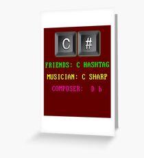 C# Programming Language Greeting Card