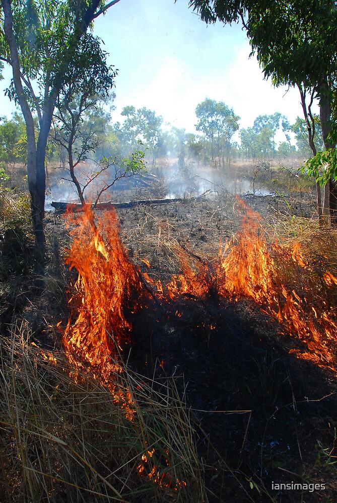 Burning grass #2 Kakadu NT by iansimages