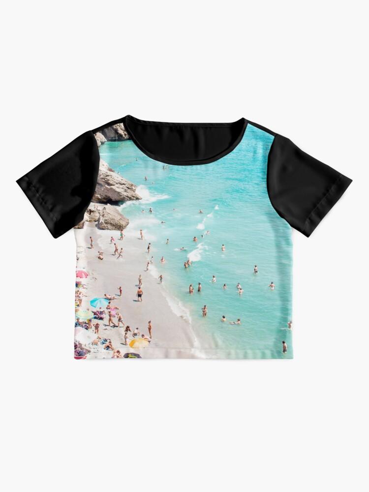 Alternate view of Coastal, Beach art, Blue Water, Sea, Ocean Chiffon Top