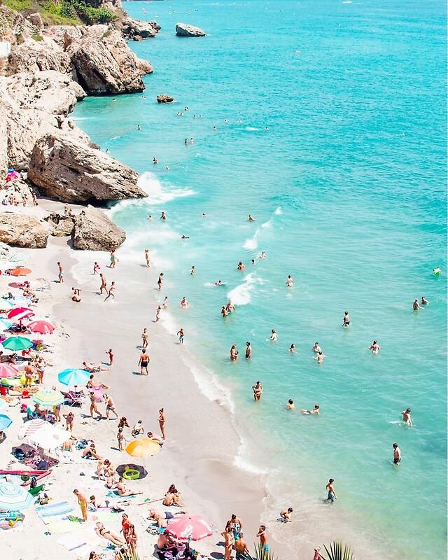 Pósters «Costera, arte de playa, agua azul, mar, océano» de Julia ...