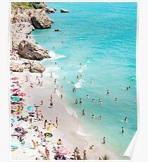 Coastal, Beach art, Blue Water, Sea, Ocean Poster