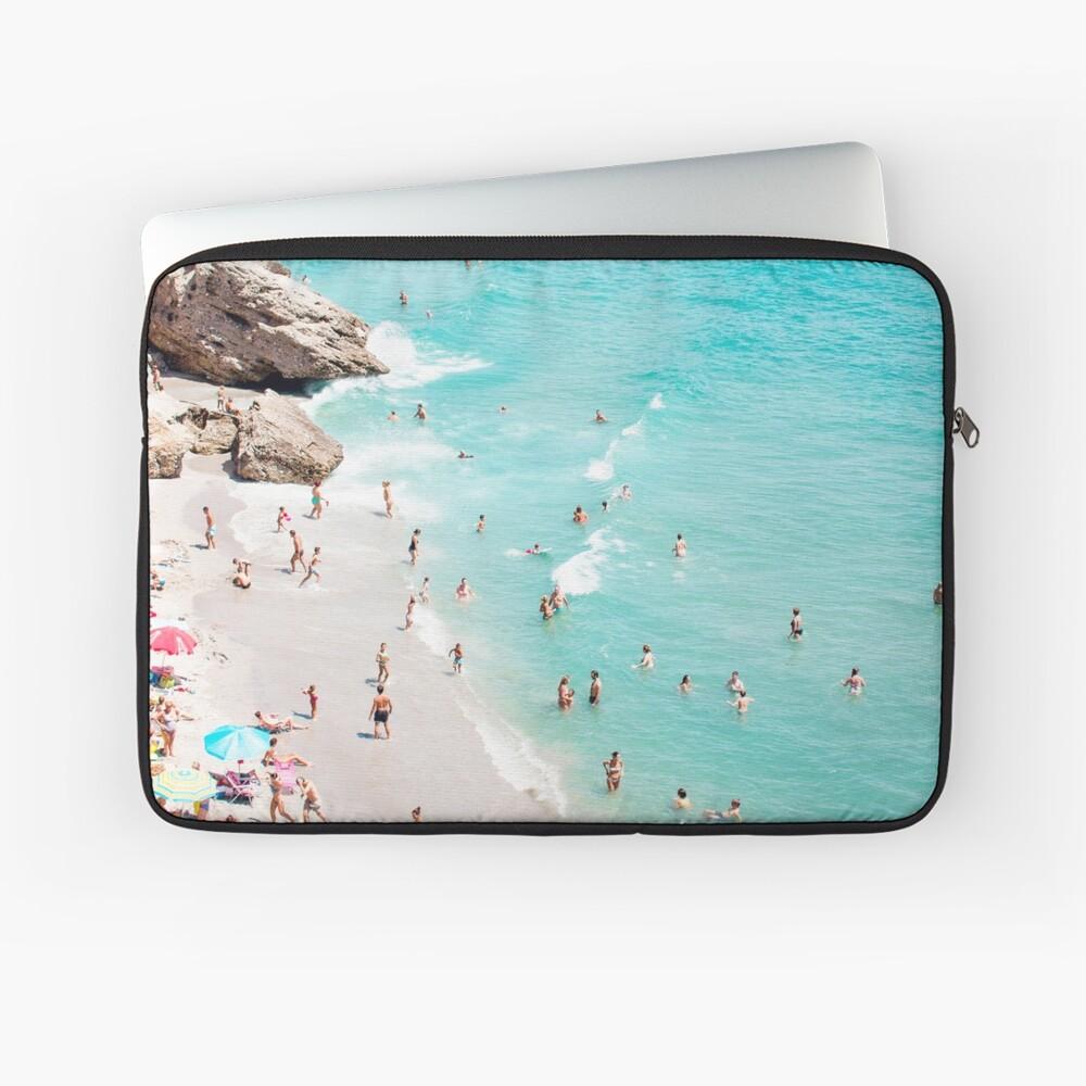 Coastal, Beach art, Blue Water, Sea, Ocean Laptop Sleeve
