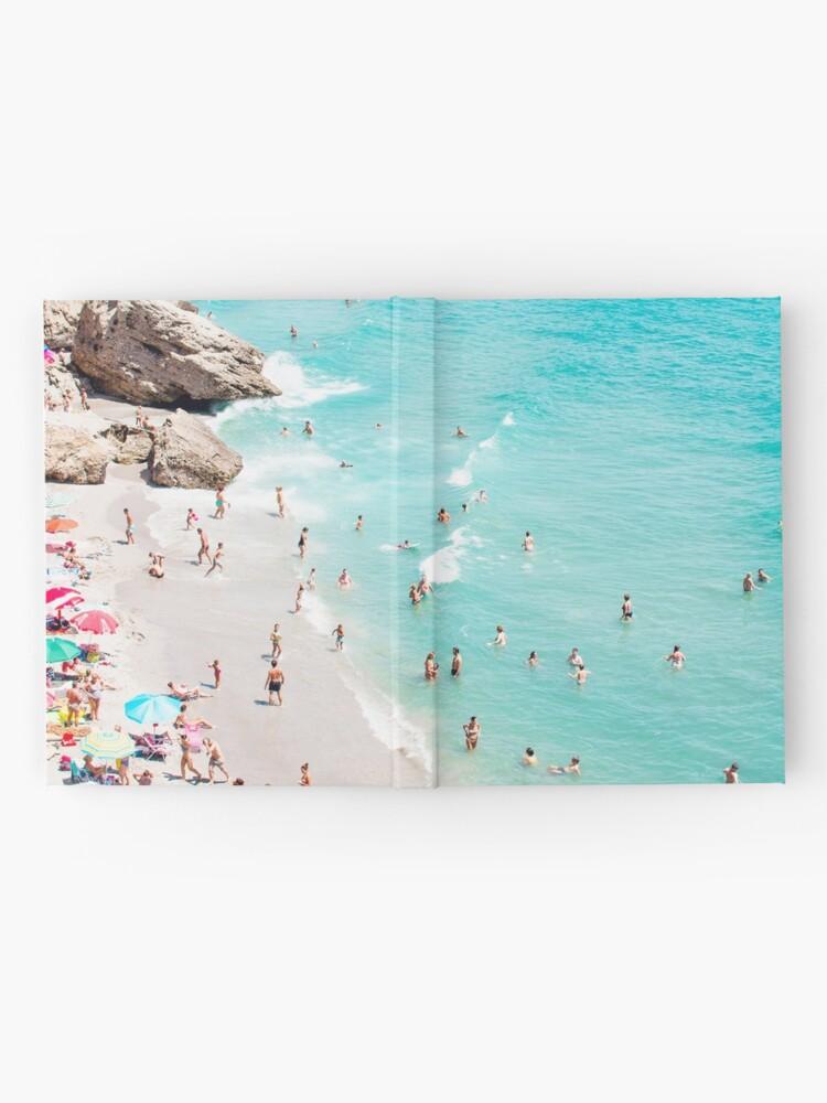 Alternate view of Coastal, Beach art, Blue Water, Sea, Ocean Hardcover Journal
