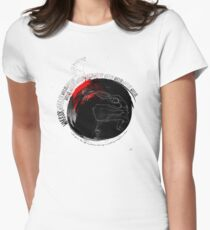 Warrior wheel Womens Fitted T-Shirt