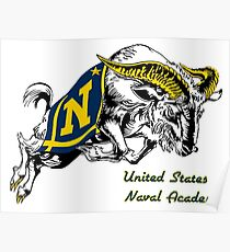 THE USNA Rampaging Goat! Poster