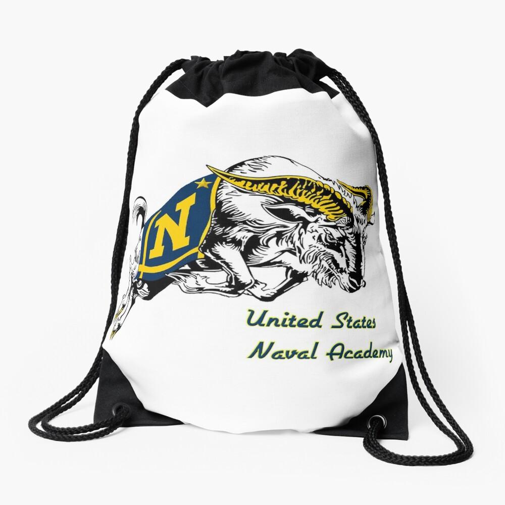 THE USNA Rampaging Goat! Drawstring Bag