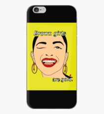 Brown is gold, Brown is bold.  iPhone Case