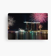 Happy New Year Singapore Canvas Print