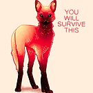 """""""You Will Survive This"""" Fire Galaxy Maned Wolf by thelatestkate"""