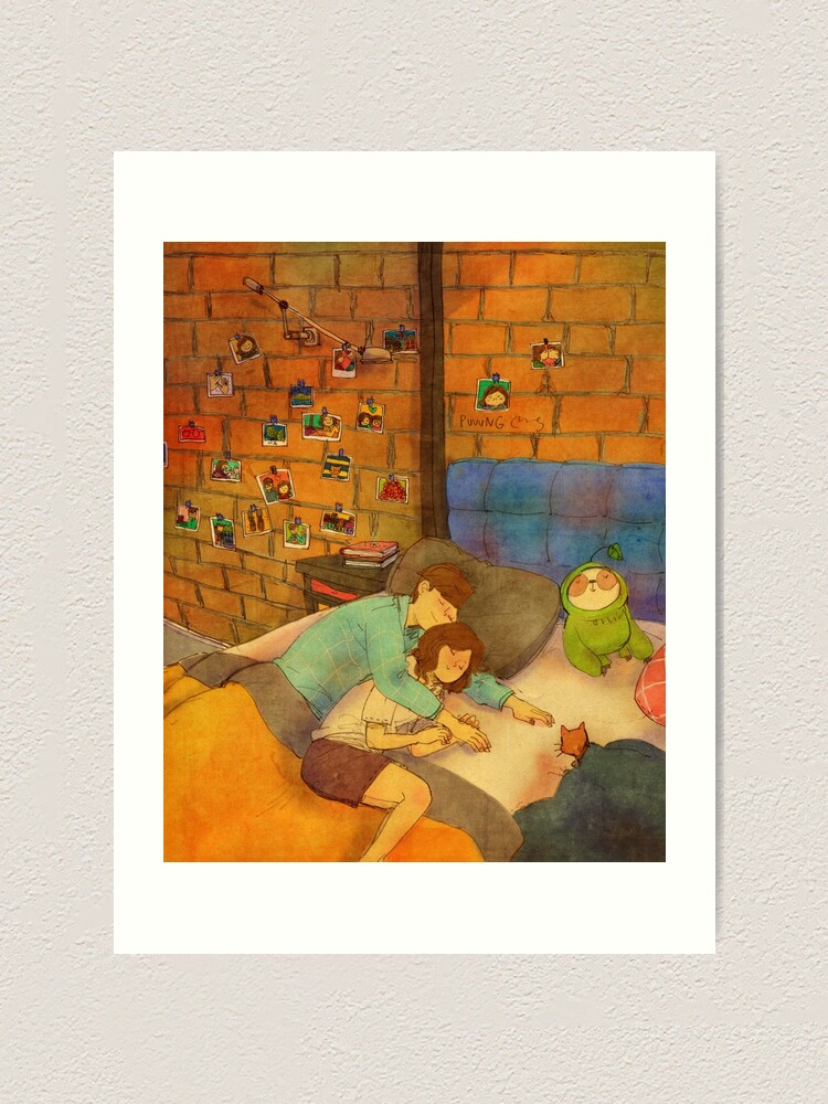 Alternate view of Napping together Art Print