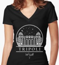 Tripoli - Galleeria De Aurora Women's Fitted V-Neck T-Shirt