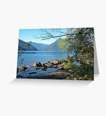 """Lake Crescent"" Greeting Card"
