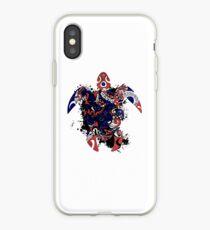 Hawaii Flag Turtle Art Design iPhone Case
