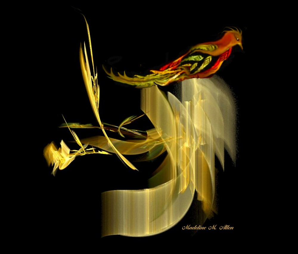 A GOLDEN PERCH by Madeline M  Allen