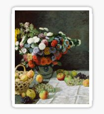Claude Monet - Still Life with Flowers and Fruit Sticker
