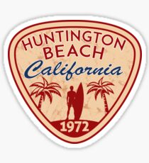 Surfing HUNTINGTON BEACH CALIFORNIA Surf Surfer Surfboard Waves Ocean 9 Sticker